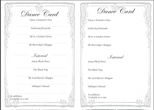 Dance Cards Example